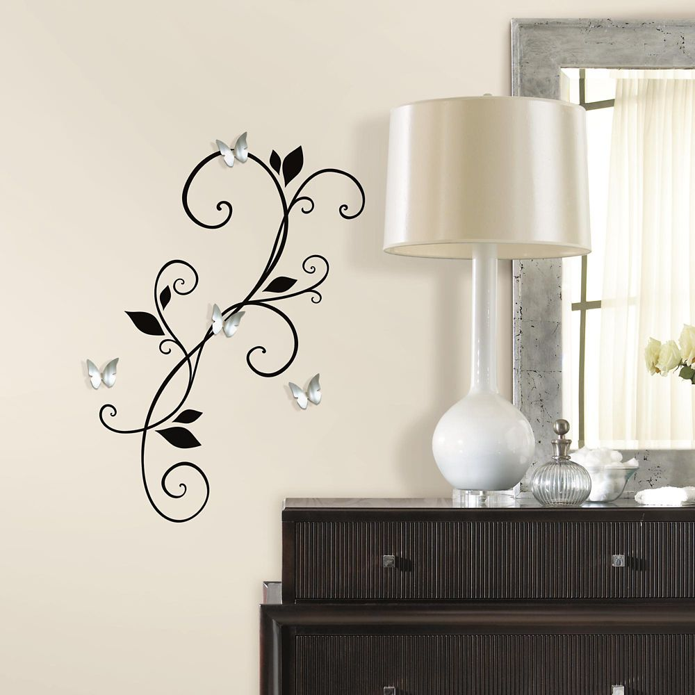 "Stickers Muraux ""Scroll Sconce"""