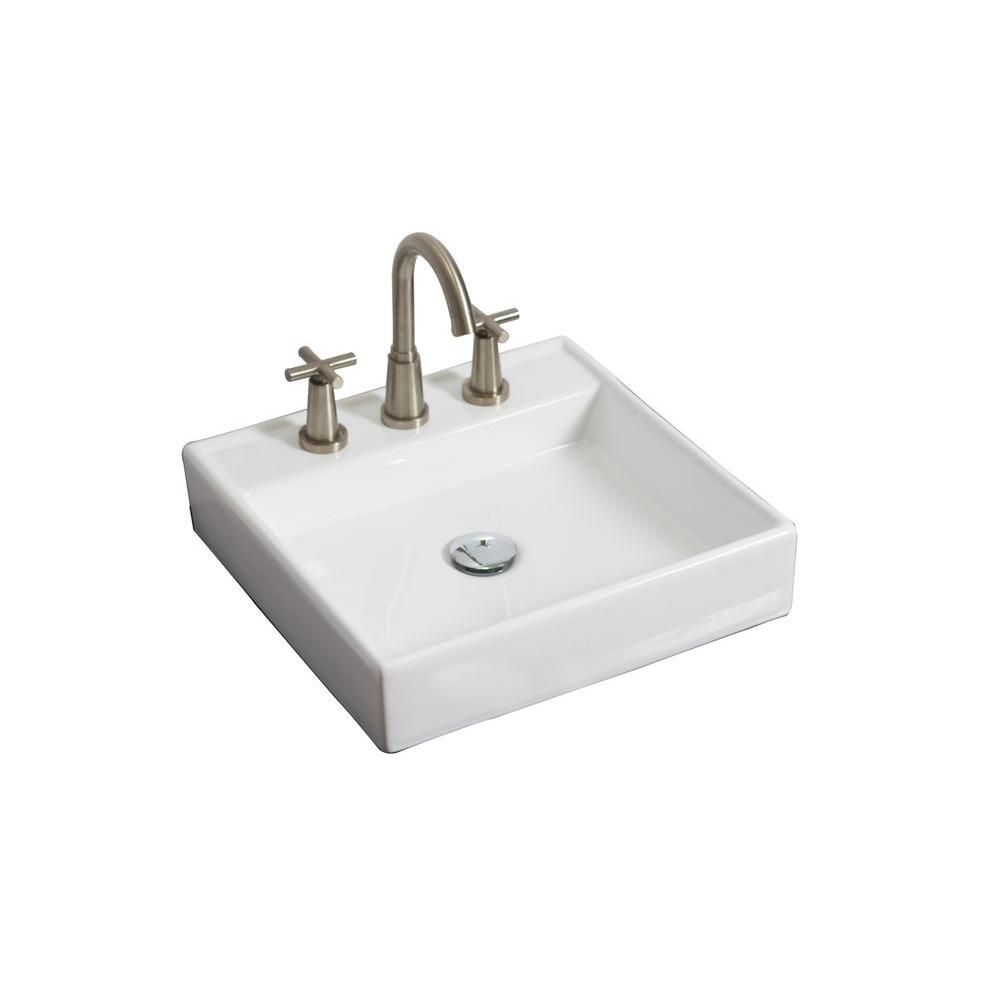 Home Depot Vessel Sinks : ... Square Ceramic Vessel Sink in White The Home Depot Canada