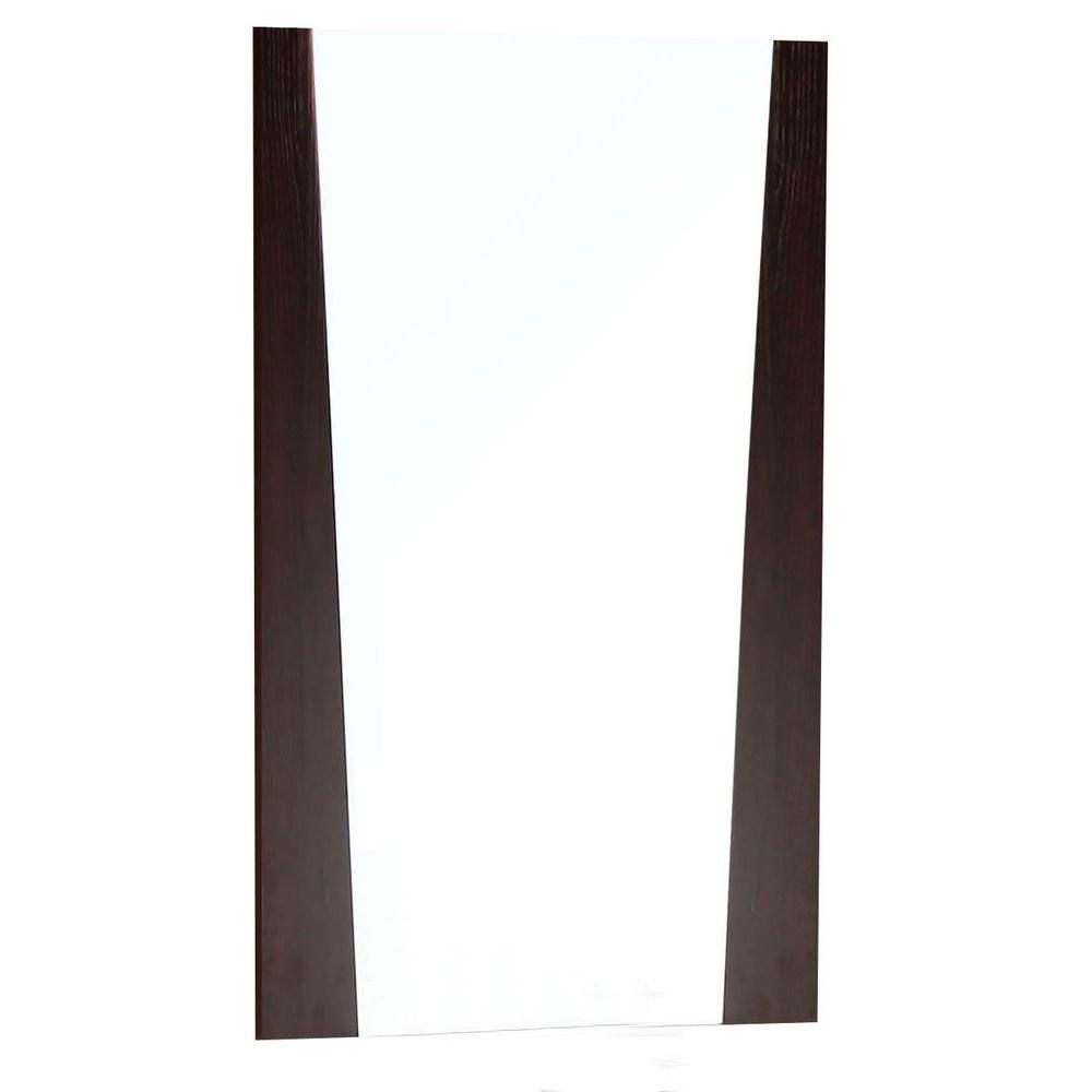 24 Inch W x 18 Inch H Wood Frame Mirror In Wenge Finish