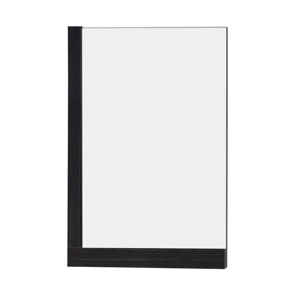24 Inch W x 32 Inch H Solid Plywood Mirror Finished with Modern Style Melamine In Dawn Grey Finis...