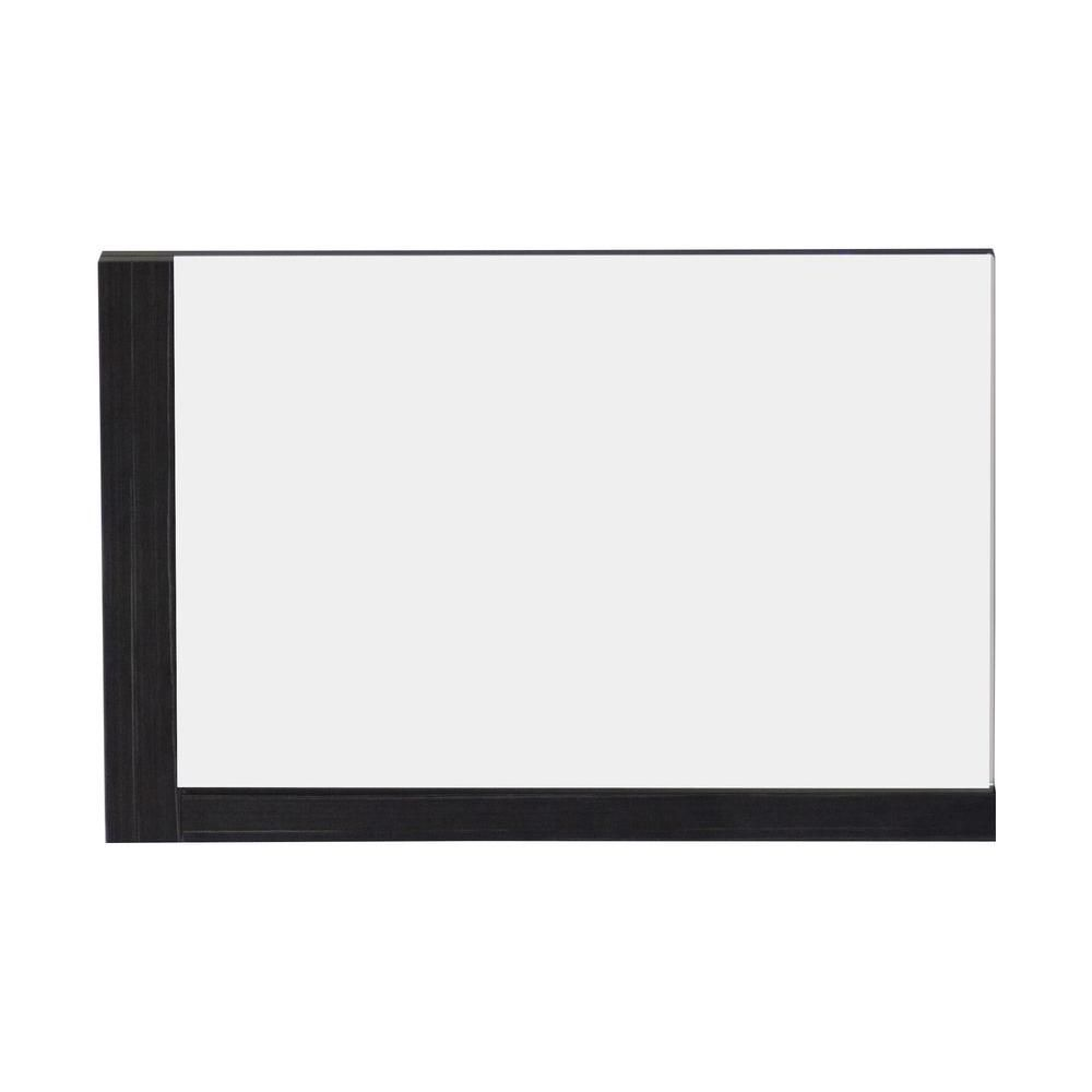 32 Inch W x 24 Inch H Solid Plywood Mirror Finished with Modern Style Melamine In Dawn Grey Finis...