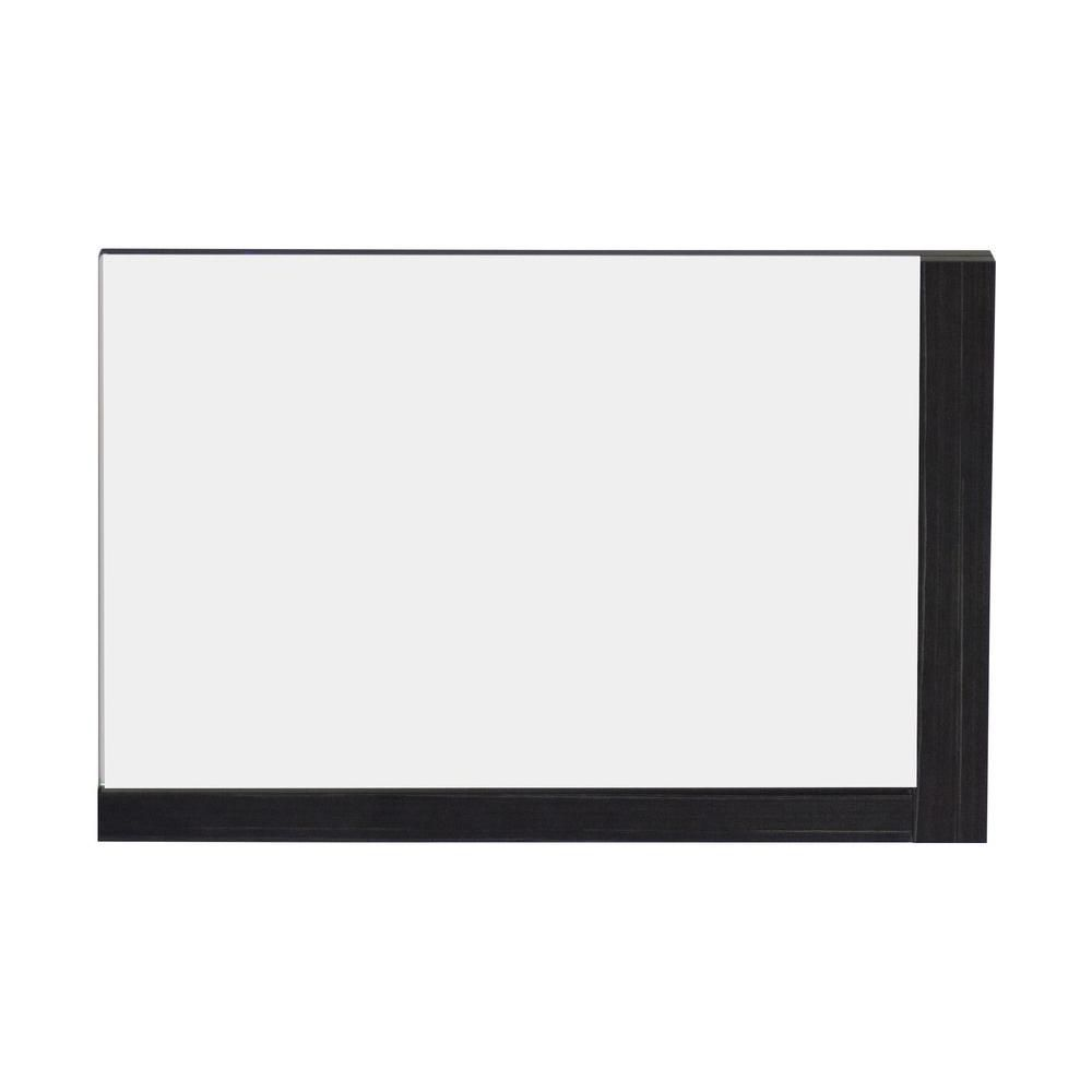32 Inch W x 24 Inch H Solid Plywood Mirror Finished with Modern Style Melamine In Dawn Grey Finish