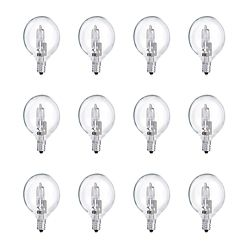 Philips Halogen 40W Globe (G16.5) Clear - Case of 12 Bulbs
