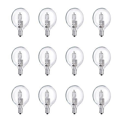 Philips 40W Halogen Globe (G16.5) Clear Light Bulb (12-Pack)