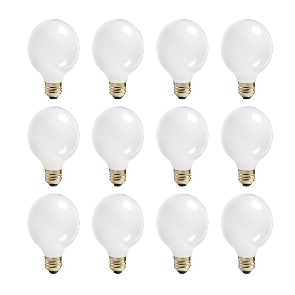 Halogen 60W Globe (G25) White - Case of 12 Bulbs