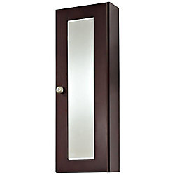 American Imaginations 12 Inch W x 36 Inch H Cherry Wood Reversible Door Medicine Cabinet in Coffee Finish