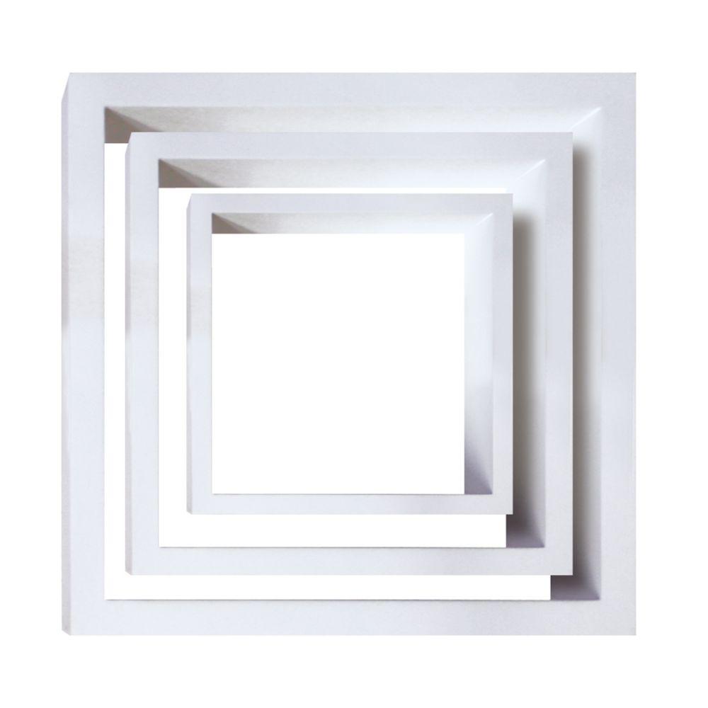 Cubbi 3 Pc Wall Shelf- White wood