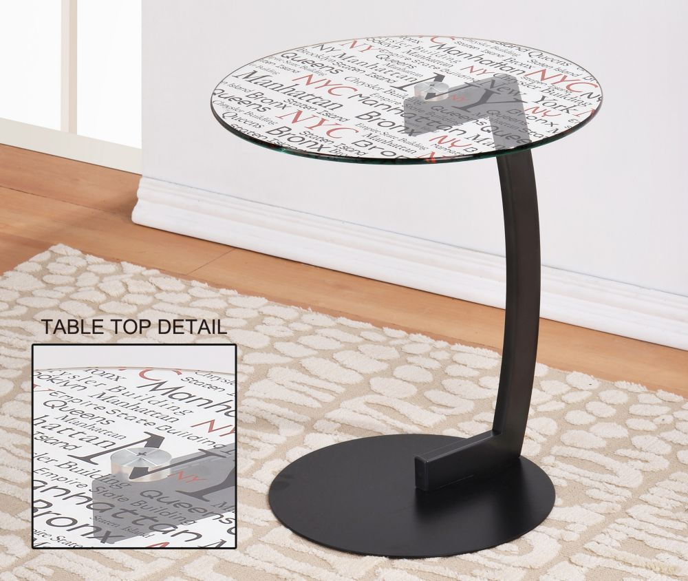 Soho-Round Accent Table-Black