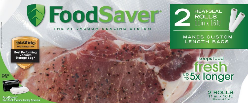 Foodsaver 11 in. x 16 ft. Freezer Heat-Seal Roll  2 Pack