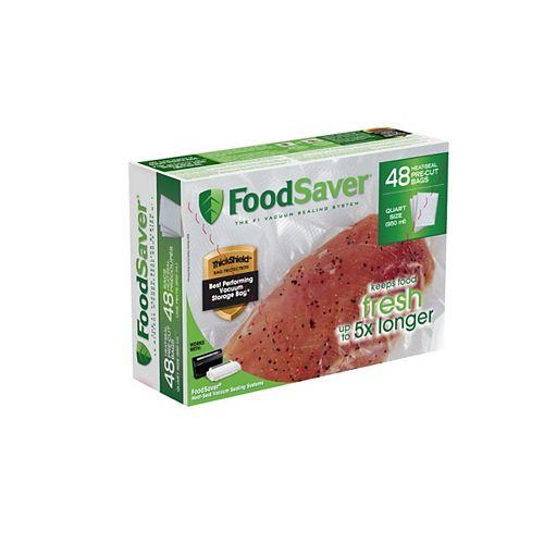 Foodsaver Quart Freezer Heat-Seal Bags (48-Pack)