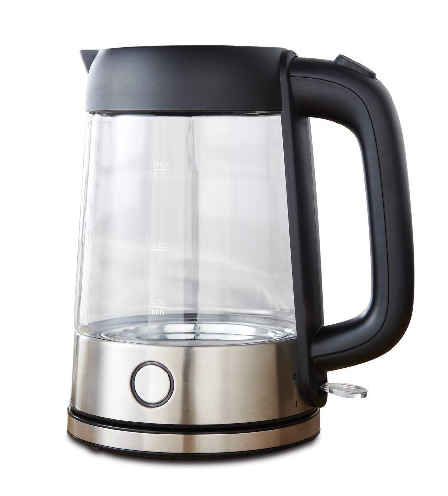 1.7L Illuminating Glass Kettle (Black)
