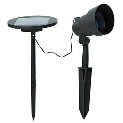Hampton Bay Solar Cast Aluminum Spot Light With Removable Solar Panel