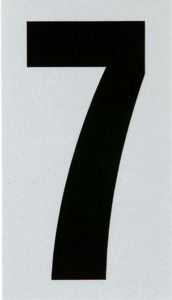 3 Inch Black & Silver Reflec Mylar 7