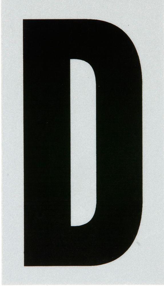 3 Inch Black & Silver Reflec Mylar D