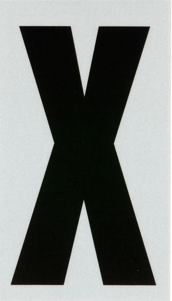 3 Inch Black & Silver Reflec Mylar X