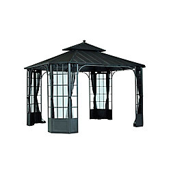 Hampton Bay Bayside 10 ft. x 12 ft. Hard Top Gazebo