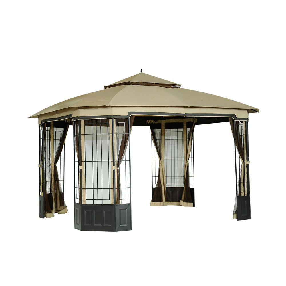 Bethany 10 ft. x 12 ft. Soft Top Gazebo with Vented Canopy