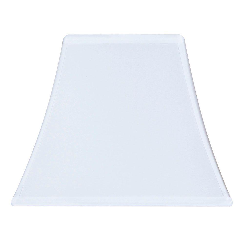 Abat-jour de lampe de table cloche carrée crème