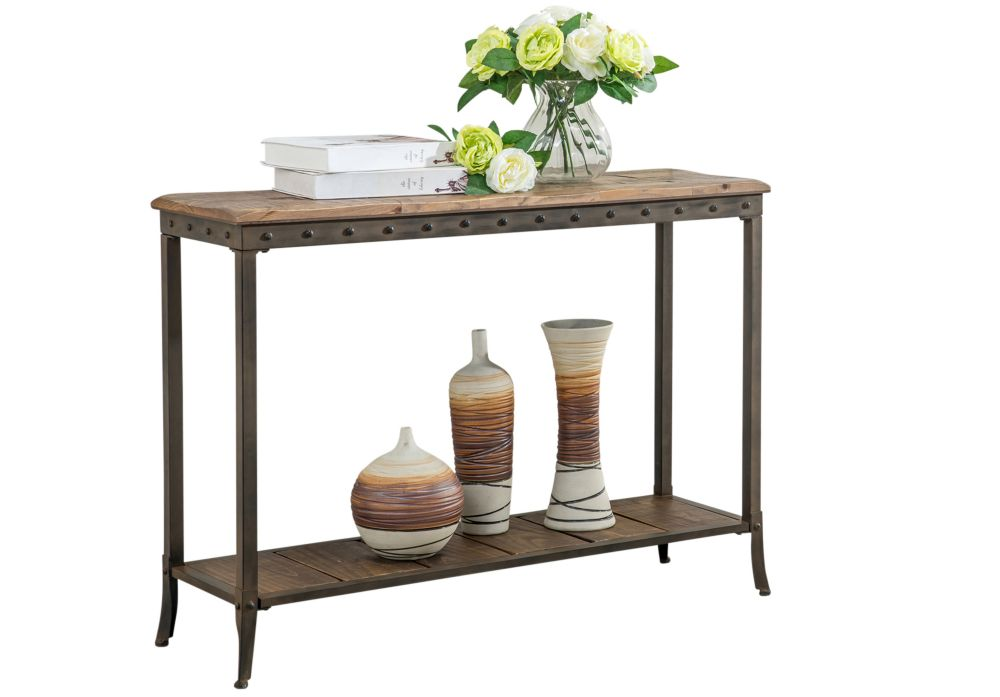 !nspire Trenton-Rec. Console Table-Distressed Pine
