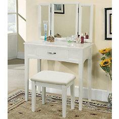 Carolina-Vanity Set-White