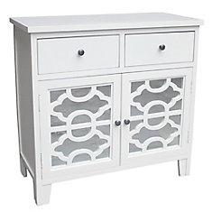Bristol-2 Drawer Cabinet-White