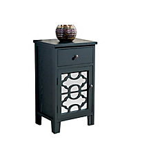 Bristol-1 Drawer Cabinet-Black