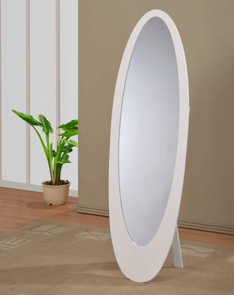 Infinity II-Cheval Mirror-White
