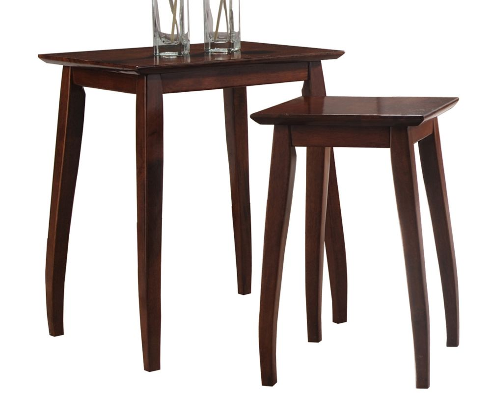 Worldwide homefurnishings inc maki jeu de 2 tables de for Jeu des tables