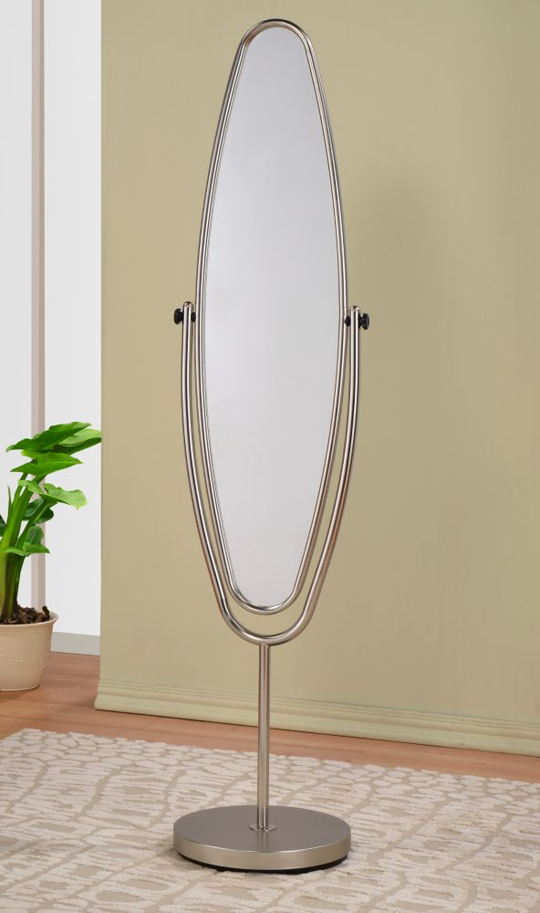 Reflex miroir psyché - nickel satiné