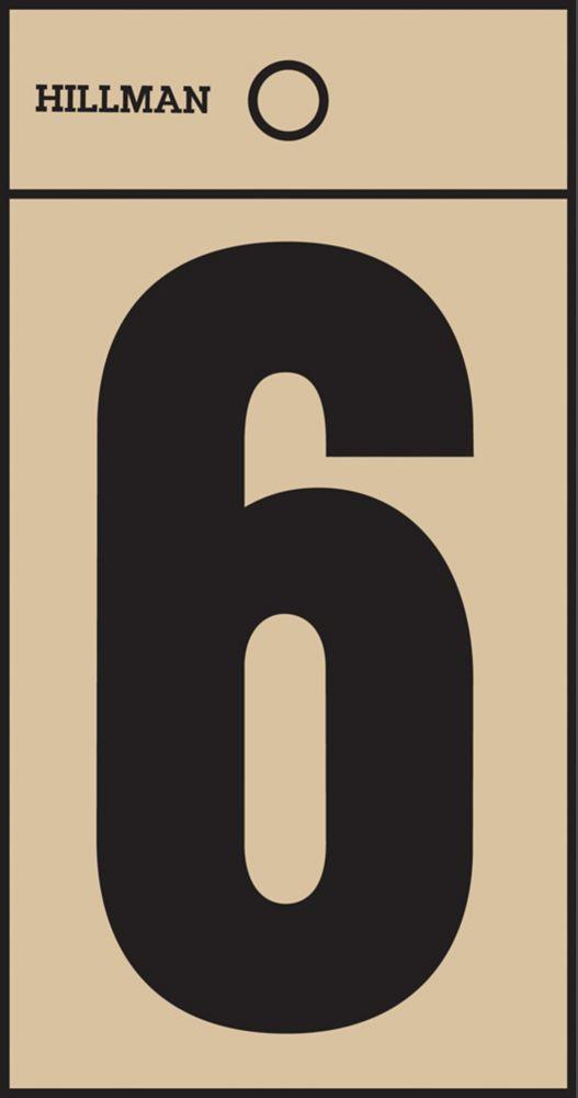 2 Inch Black & Gold Mylar Sticker 6