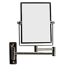 5-inch x 13-inch Rectangular Wall Mount Magnifying Mirror in Chrome