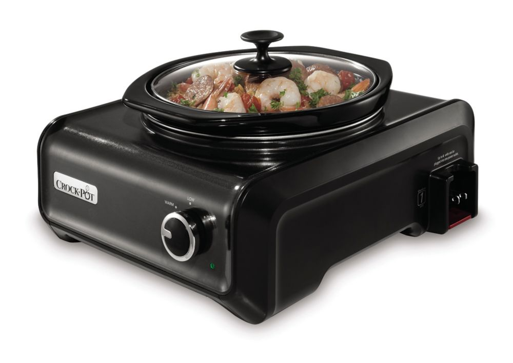 Hook-Up 2 Qt. Round Slow Cooker Entertainment System
