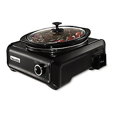 Hook-Up 3 Qt. Round Slow Cooker Entertainment System