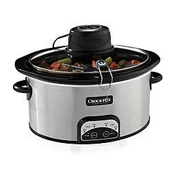 Crock-Pot 6.5 Qt Programmable Oval iStir Slow Cooker (Stainless Steel)