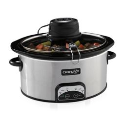 Crock-Pot 6.5 Qt Programmable Oval iStir Slow Cooker (Stainless Steel)