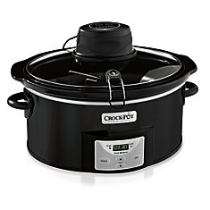 6 Qt Programmable Oval iStir Slow Cooker (Black)