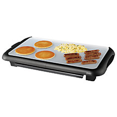 Oster DuraCeramic 10 in. x 18 in. Electric Griddle (Black and silver)