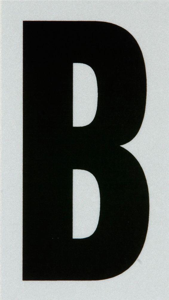2 Inch Black & Silver Reflec Mylar B