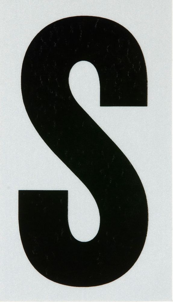 3 Inch Black & Silver Reflec Mylar S