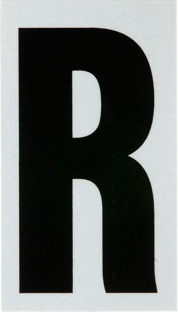 3 Inch Black & Silver Reflec Mylar R