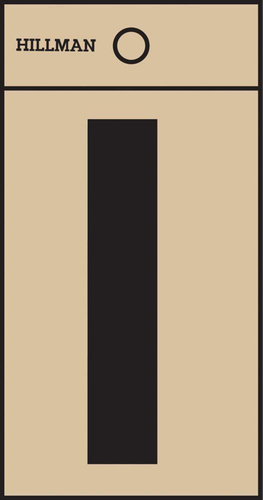 2 Inch Black & Gold Mylar Sticker I