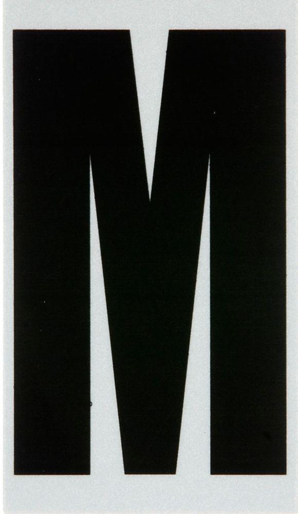 2 Inch Black & Silver Reflec Mylar M