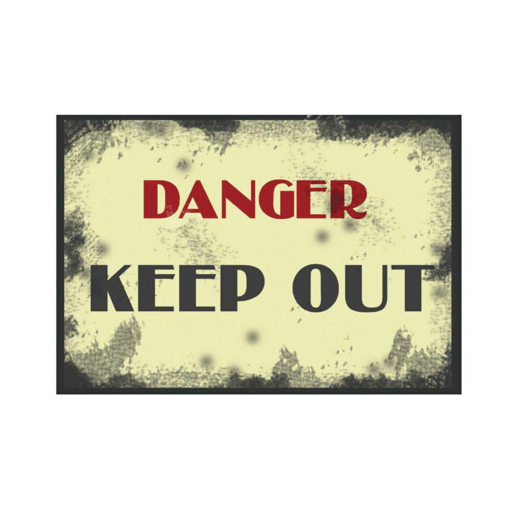 Affiche Aluminium 8 X 12 - Keep Out