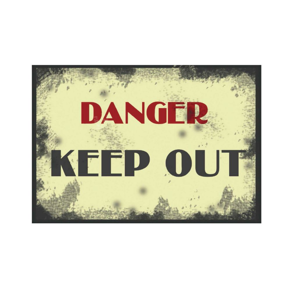 Affiche Aluminium 8 X 12 - Keep Out