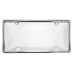 License Plate Cover with Chrome Frame