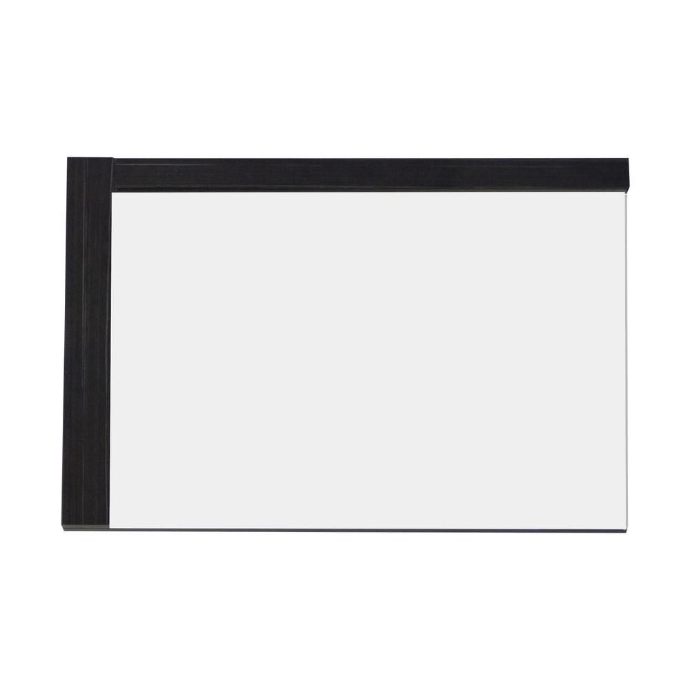 American Imaginations 32 Inch W x 24 Inch H Solid Plywood Mirror Finished with Modern Style Melamine In Dawn Grey Finish