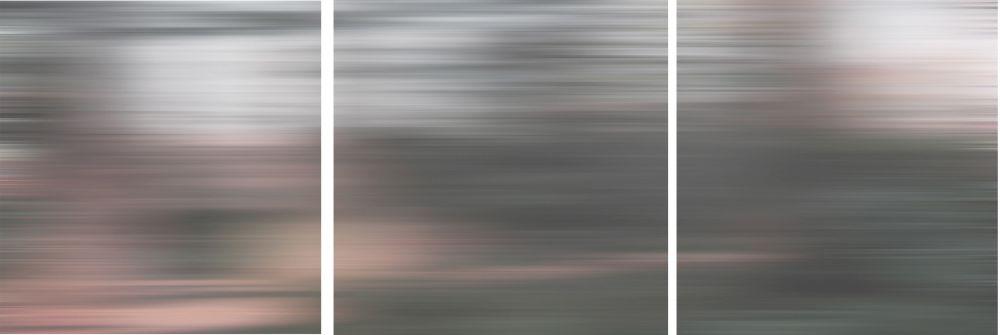 Shutter 12X12 set of 3- Grey Blurs