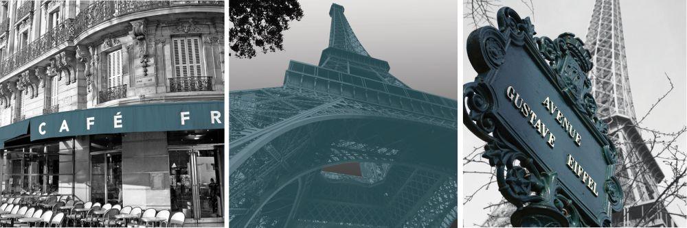 Shutter 12X12 set of 3- Paris