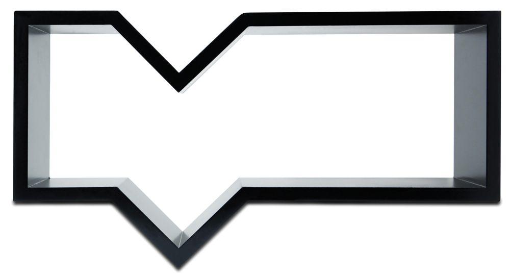 Nexxt, étagère murale Quote, 11 x 20po, de couleur noire