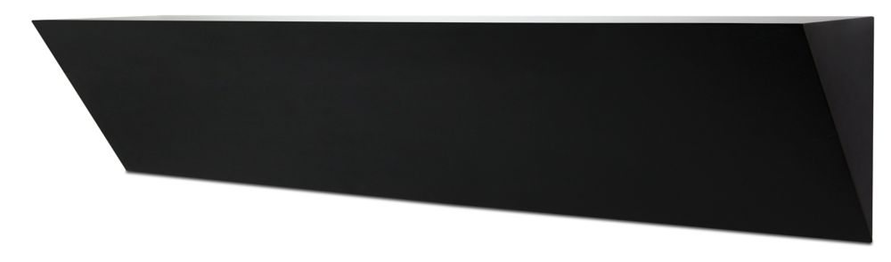 7 by 36 by 5-Inch Wedge Ledge Wall Shelf, Large, Black